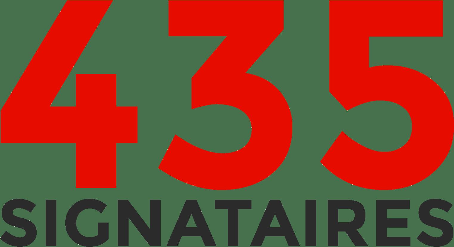 435 signataires