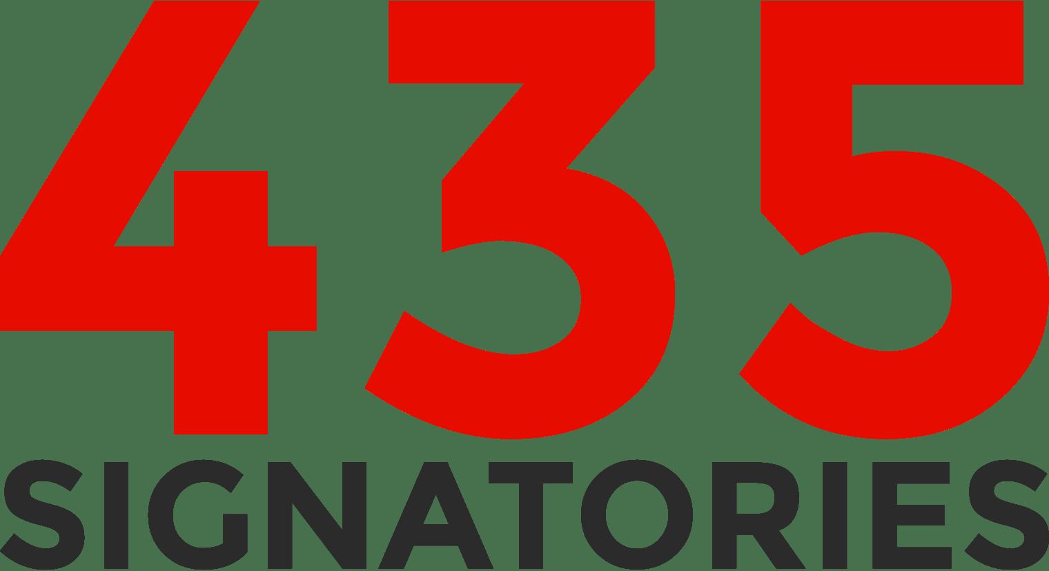 435 signatories