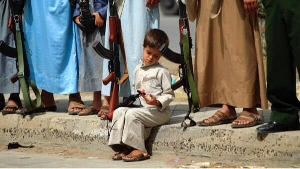 Manifestation à Sana'a au Yémen contre les forces de la coalition menée par l'Arabie saoudite et les Emirats arabes unis