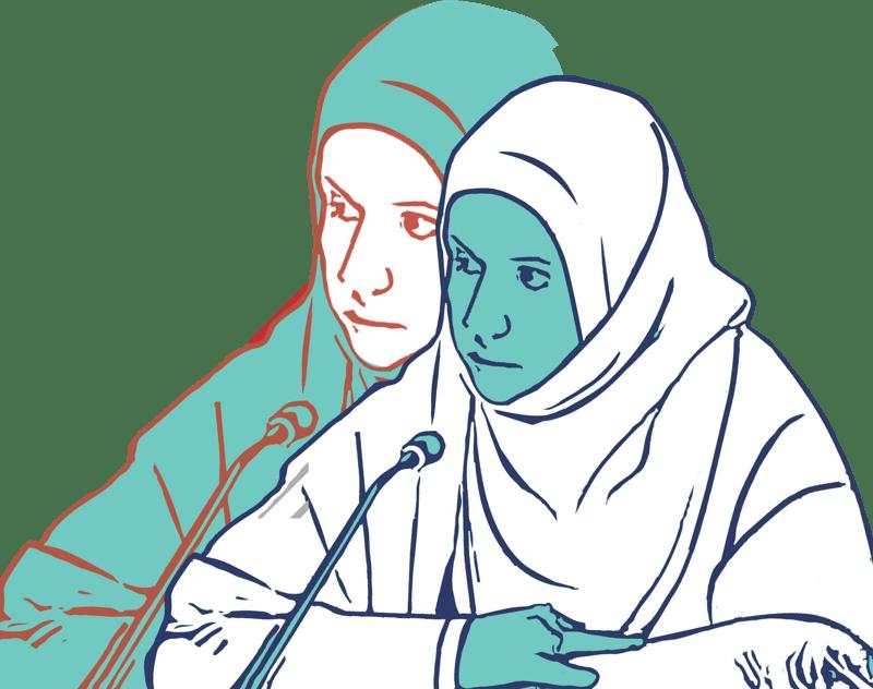An illustration of Radhya Al-Mutawakel
