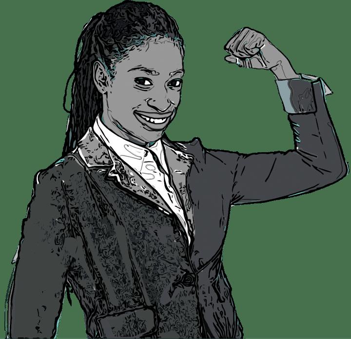 Illustration d'une femme le poing levé